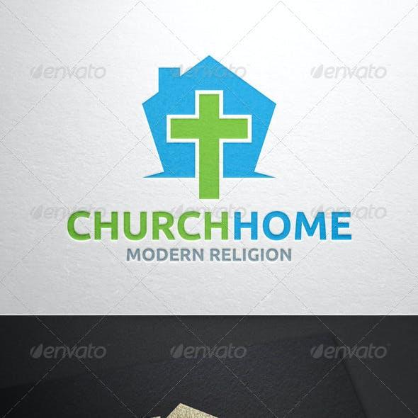 Church Home Logo Template