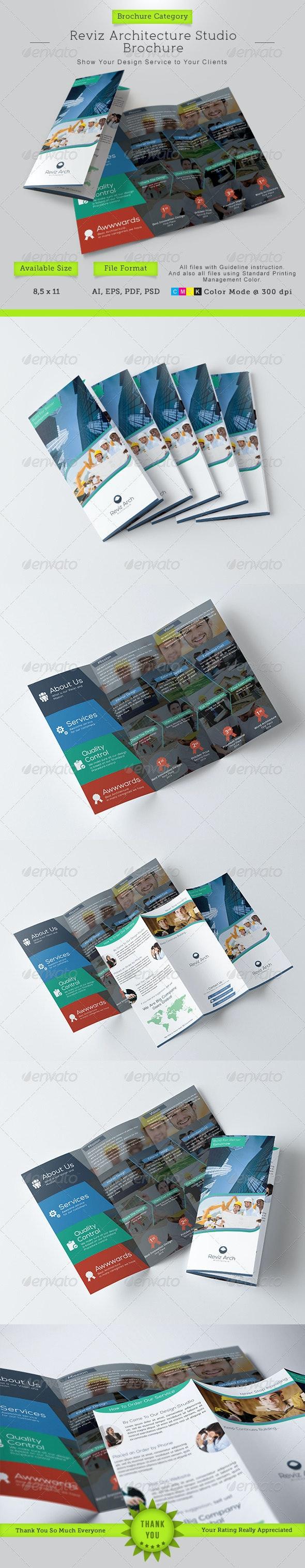 Reviz Architecture Studio Trifold Brochure - Corporate Brochures