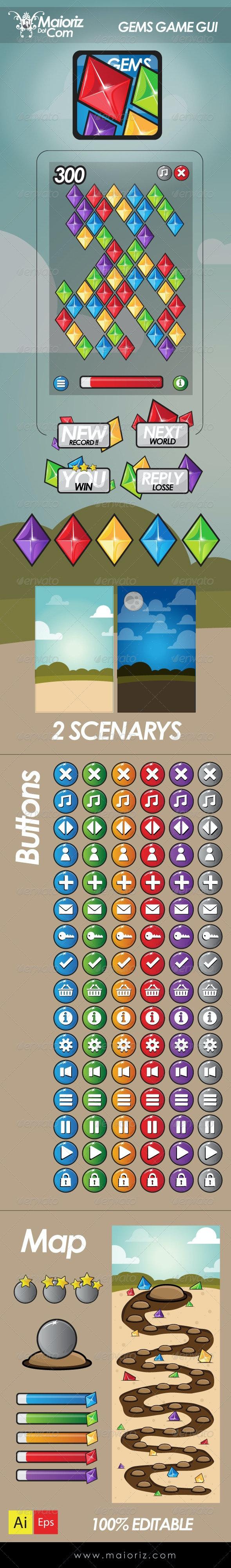 Gems Game Gui - Miscellaneous Conceptual