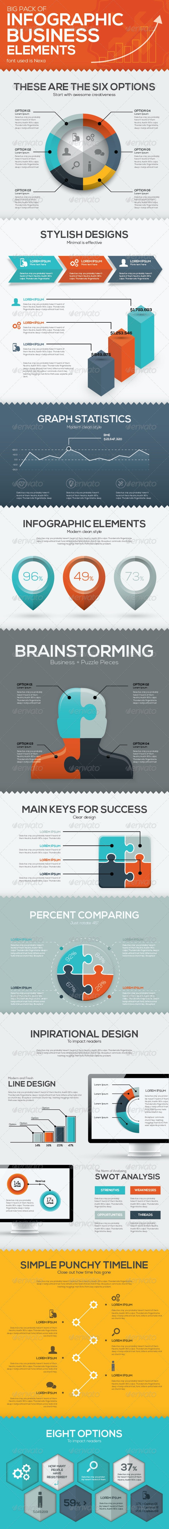 Infographic Business Vector Elements - Infographics