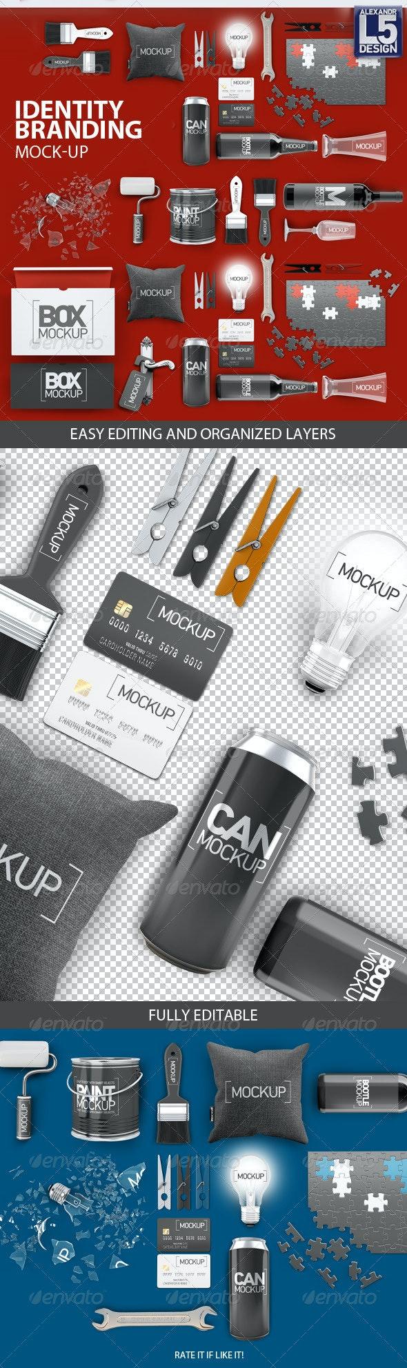 Identity Branding Mock-Up - Print Product Mock-Ups