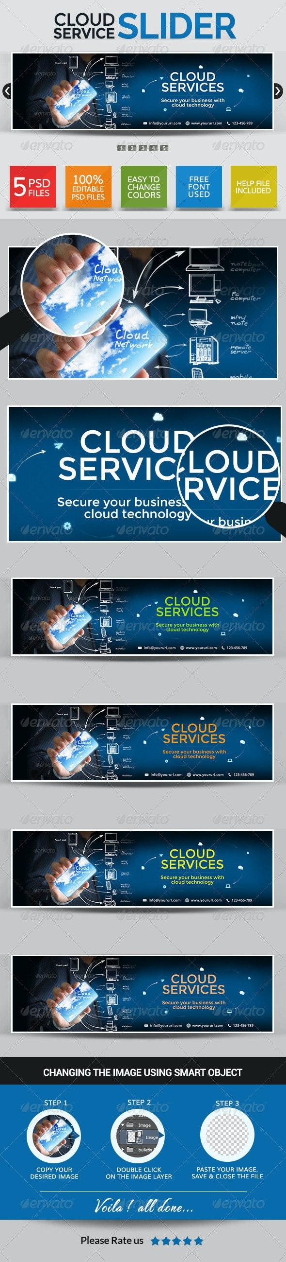 Cloud Services Web Sliders - Sliders & Features Web Elements
