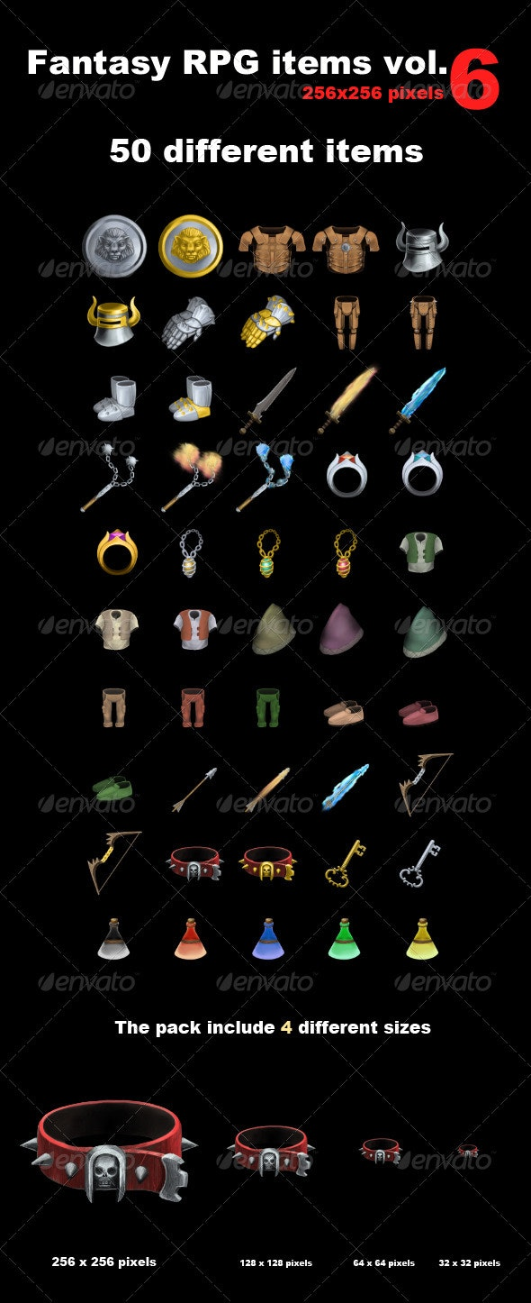 Fantasy RPG Icons Vol 6 - Objects Illustrations