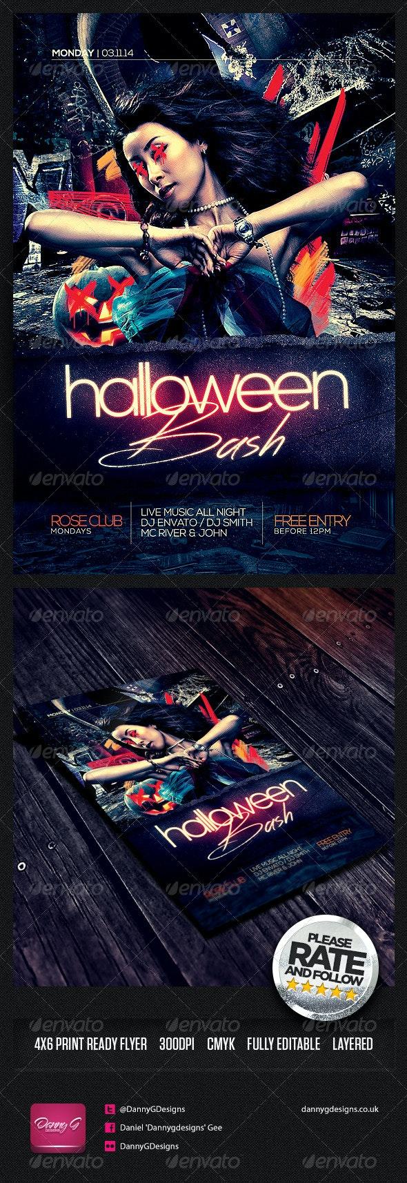 Halloween Bash Flyer Template PSD - Holidays Events