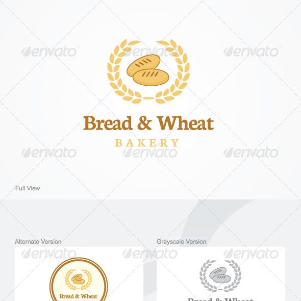 Bread & Wheat Logo Template