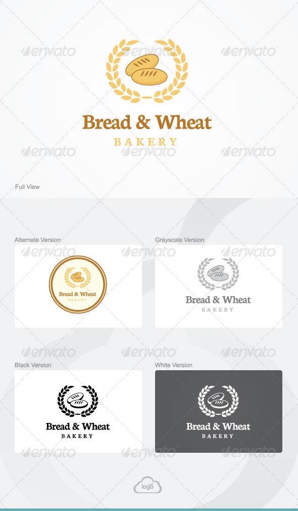 Bread & Wheat Logo Template - Food Logo Templates