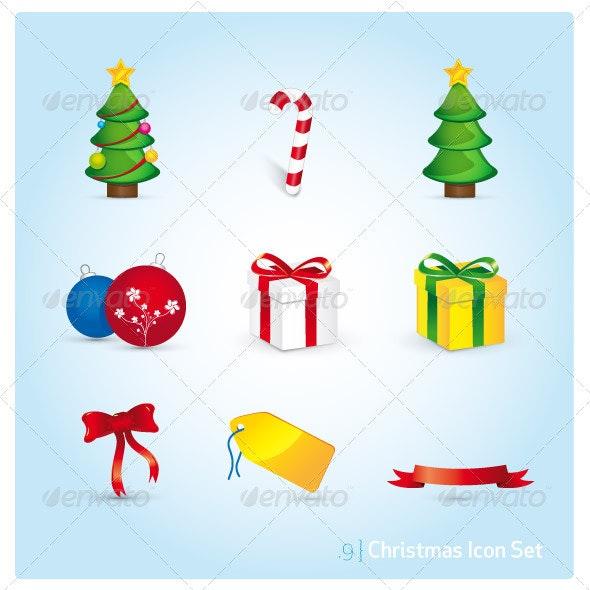 Christmas Icon Set - Christmas Seasons/Holidays