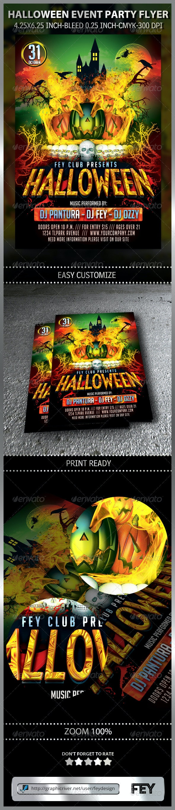 Halloween Event Party Flyer - Events Flyers