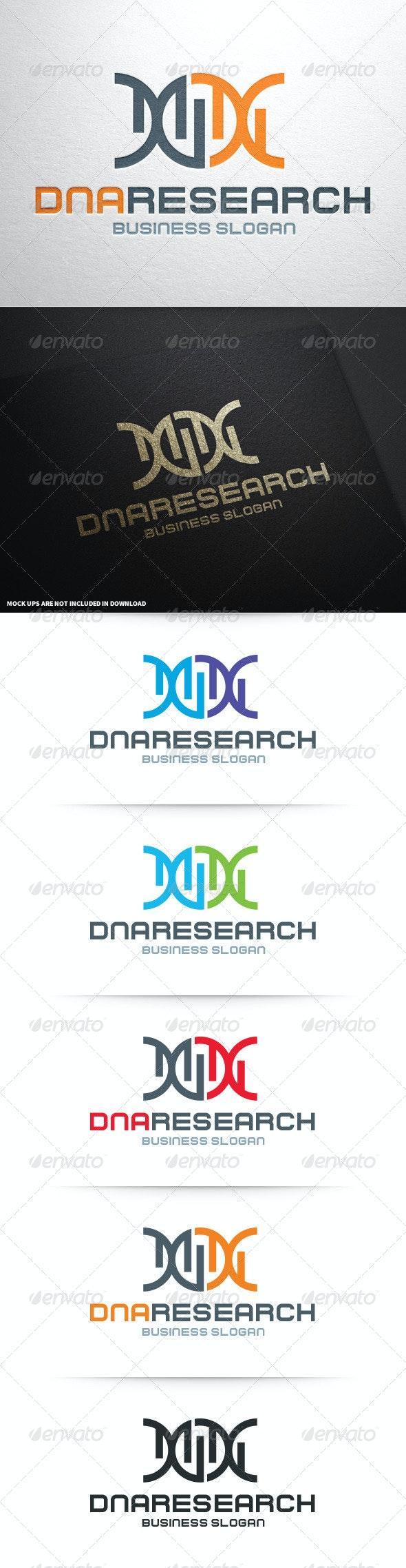 DNA Research Logo Template - Symbols Logo Templates