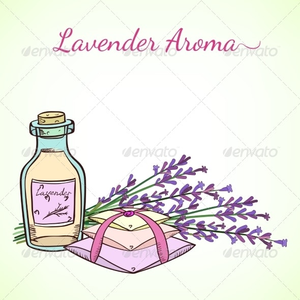 Floral Frame with Lavender - Flowers & Plants Nature