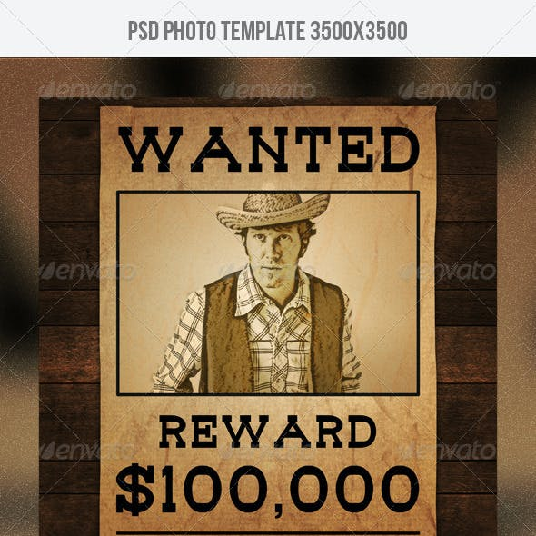 Wanted Poster Photo Template
