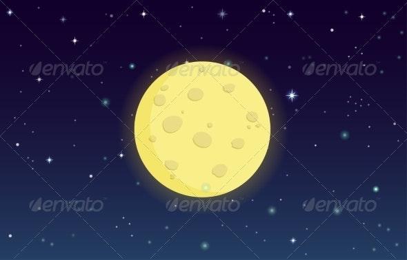 Moon at Night - Abstract Conceptual