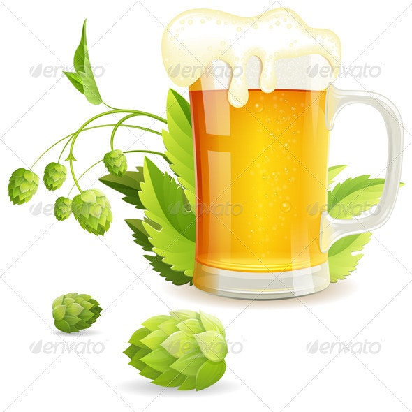 Glass of Beer - Miscellaneous Seasons/Holidays