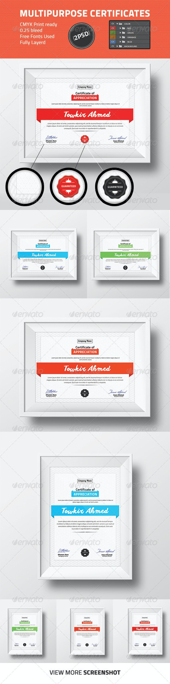 Multipurpose Certificate Design - Certificates Stationery