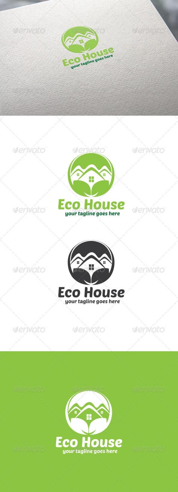 Eco House Logo - Nature Logo Templates