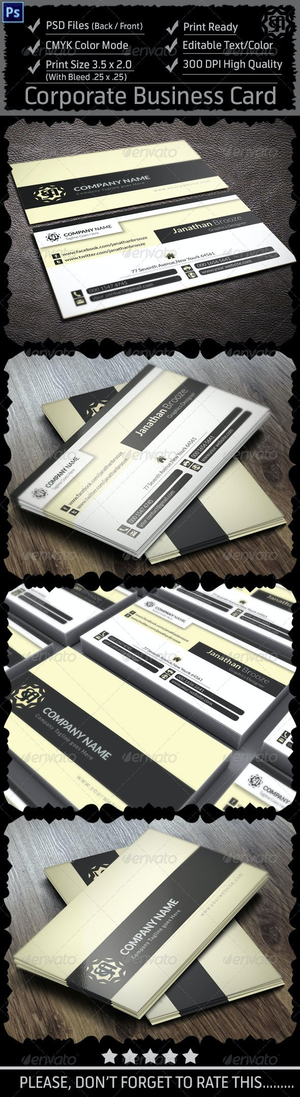 Colourful Corporate Business Card V16 - Corporate Business Cards