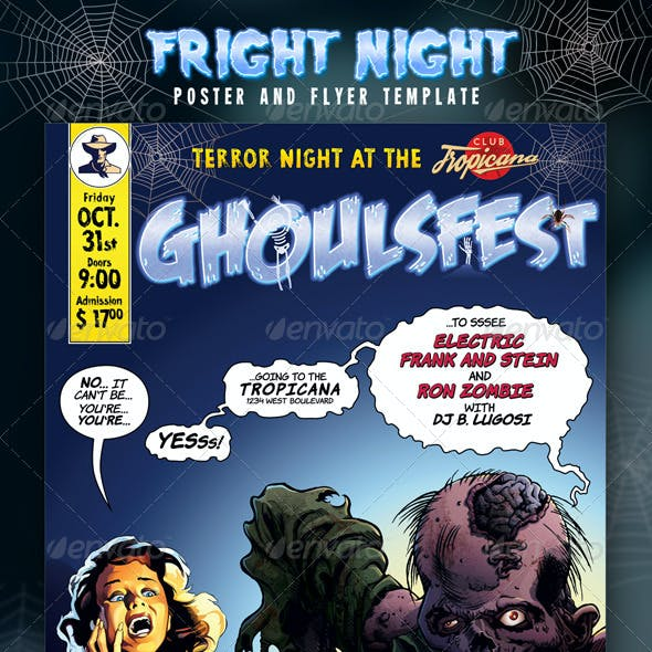 Fright Night Poster and Flyer Template