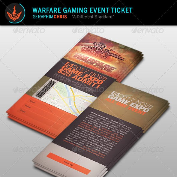 Warfare Gaming Event Ticket Template