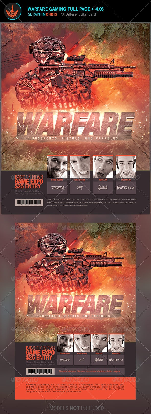 Warfare Gaming Event Flyer Template - Events Flyers