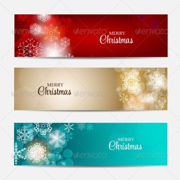 Christmas Snowflakes Website Header or Banner