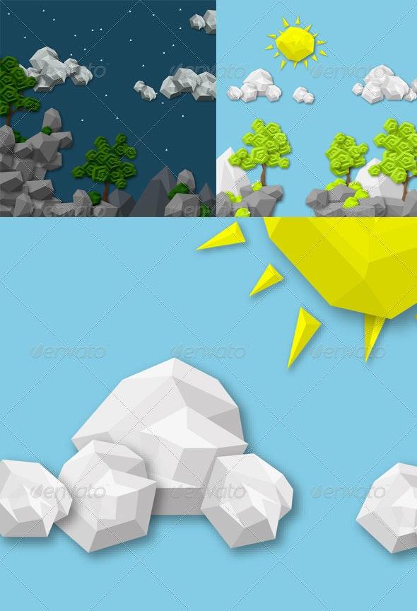 Geometric 2D Game Assets