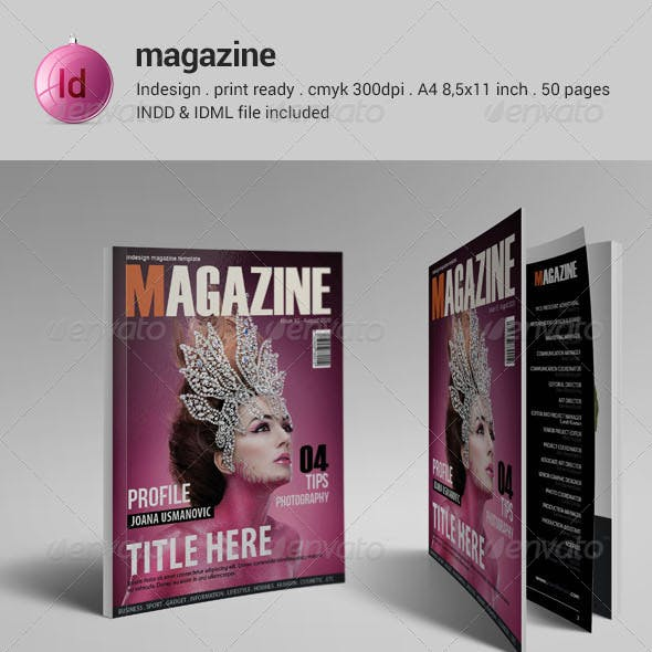 50 Pages Indesign Magazine Template