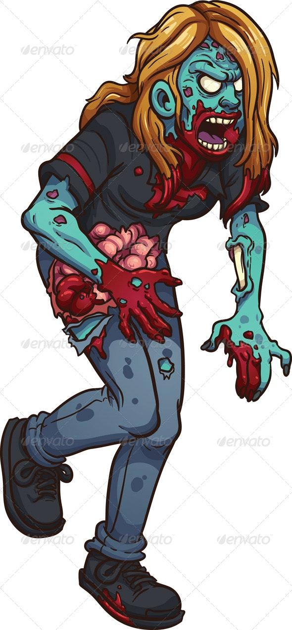 Walking Zombie - Monsters Characters