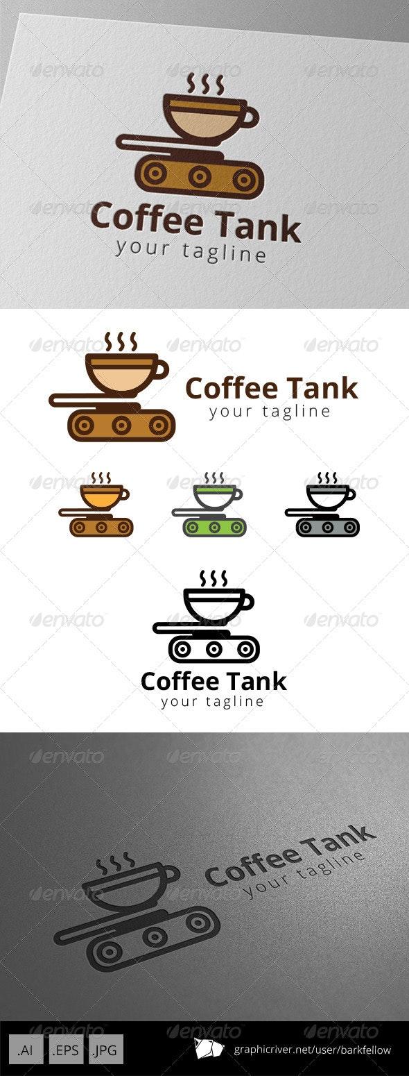 Coffee Tank Cafe Logo - Objects Logo Templates