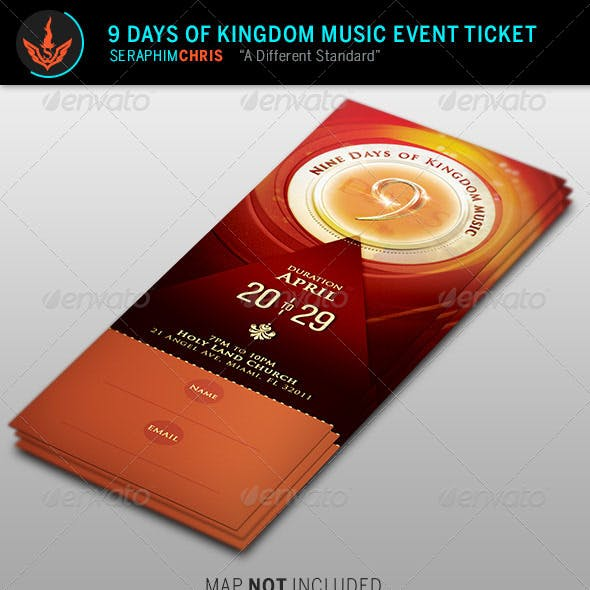 9 Days of Kingdom Music Event Ticket Template