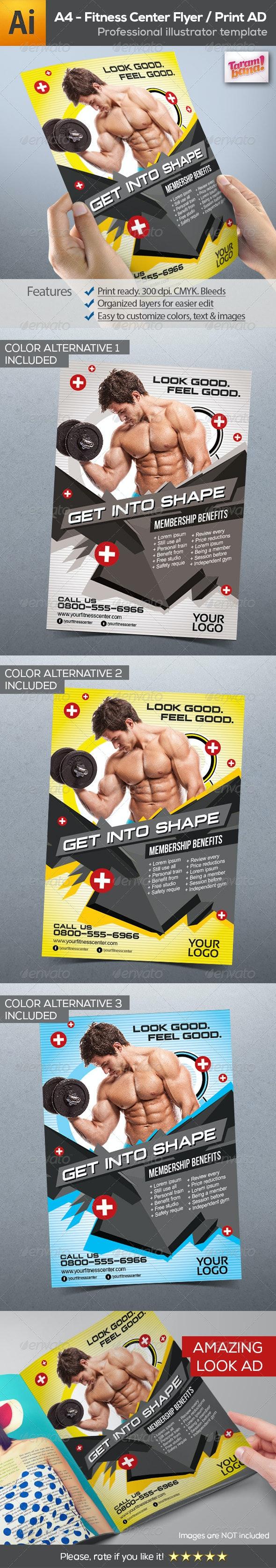 Fitness Center Flyer Print AD - Flyers Print Templates