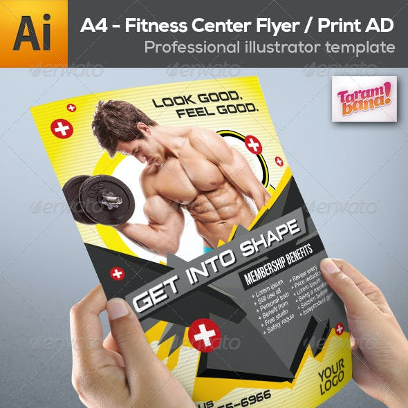 Fitness Center Flyer Print AD