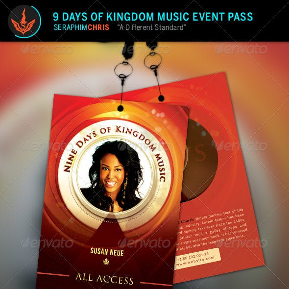 9 Days of Kingdom Music Event Pass Template