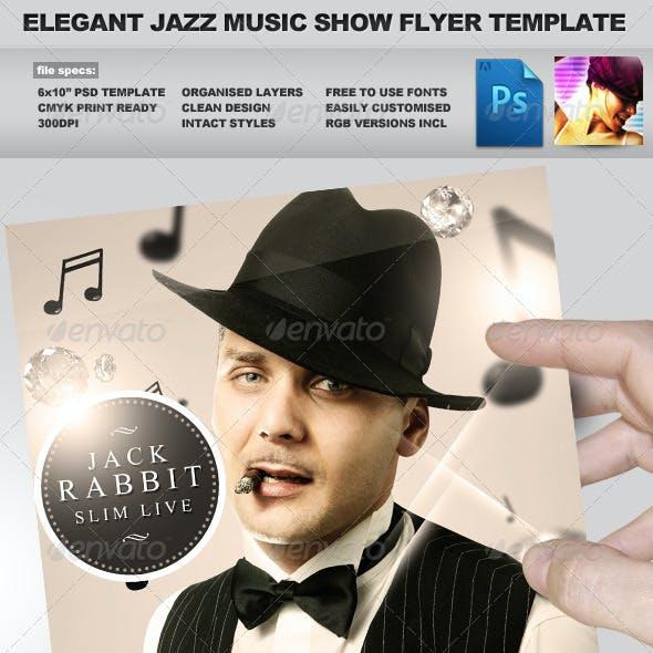 Jazz Music Event PSD Flyer Template