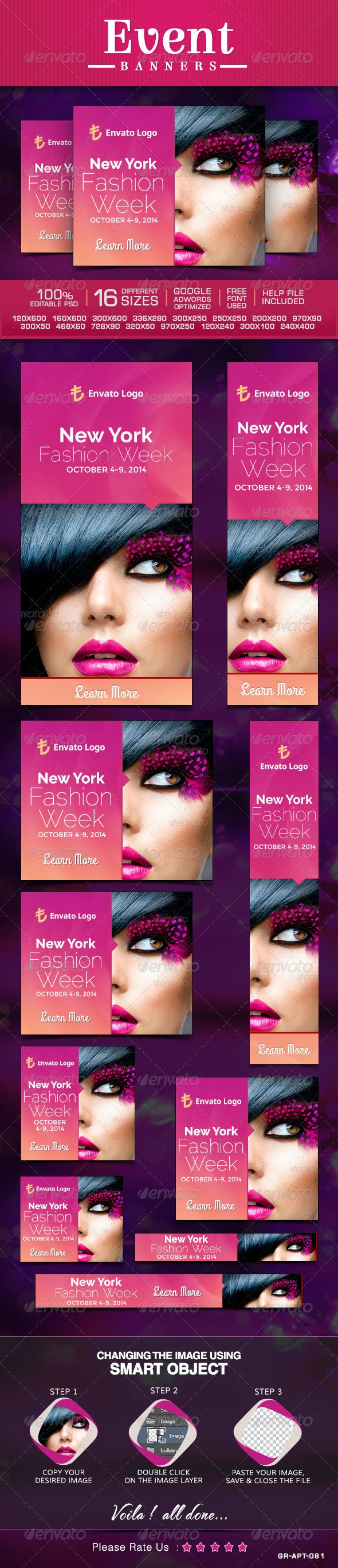 Event Banners - Banners & Ads Web Elements