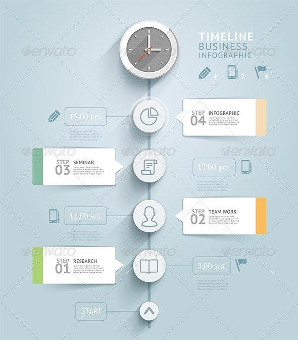 Timeline Infographic Template - Infographics