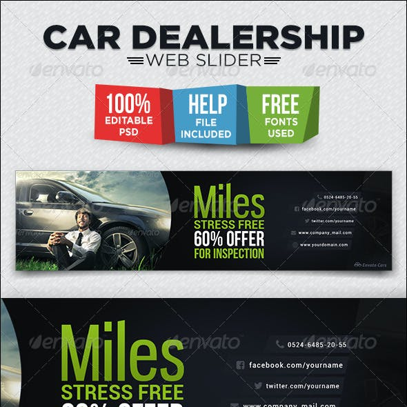 Car Dealership Web Slider