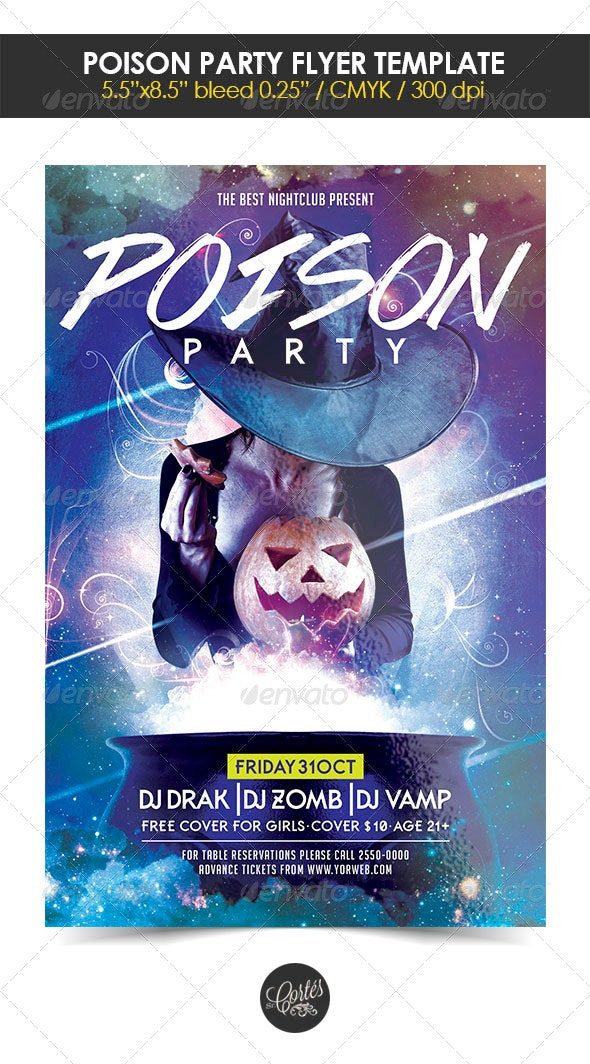 Poison Party Flyer Template - Holidays Events