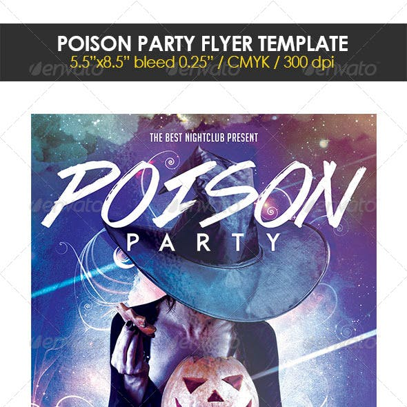 Poison Party Flyer Template