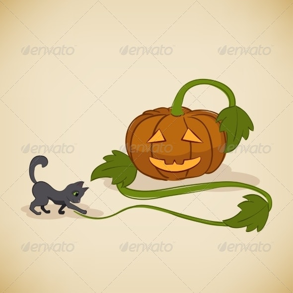 Vintage Halloween Card - Halloween Seasons/Holidays
