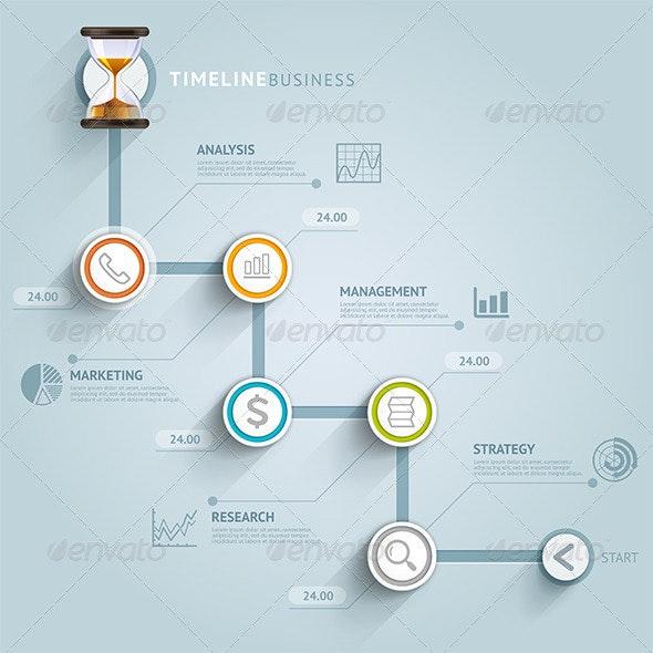 Business Timeline Infographics - Infographics