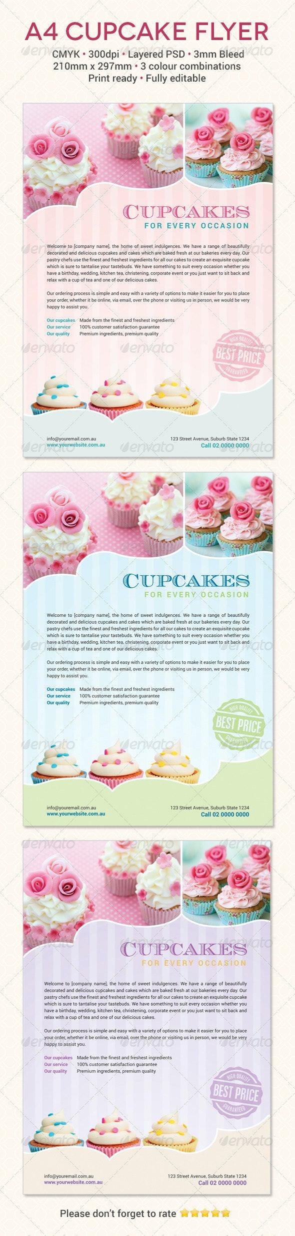 Cupcake Flyer Template - Flyers Print Templates