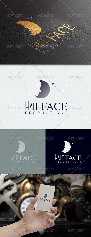 Half Face Logo Template - Humans Logo Templates