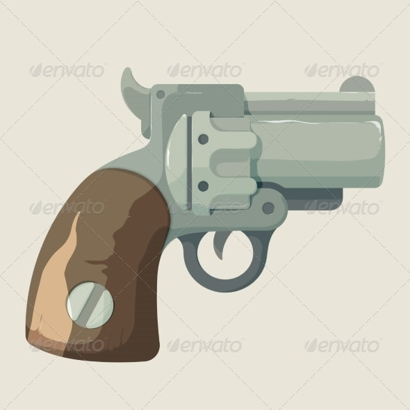 Old Cowboy Revolver - Man-made Objects Objects