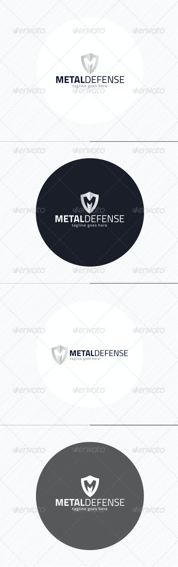 Metal Defense Logo — Letter M - Letters Logo Templates