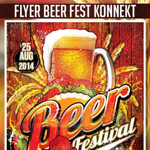 Flyer Beer Festival Konnekt