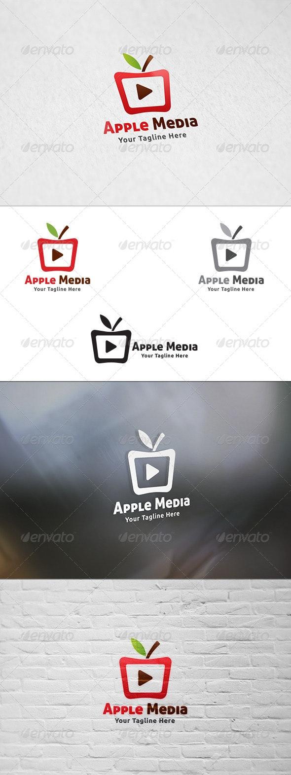 Apple Media - Logo Template