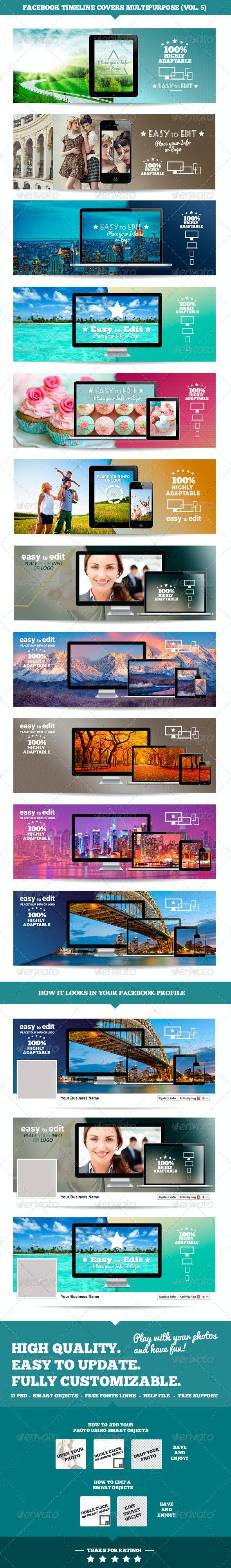 Facebook Timeline Multipurpose Covers Vol.5 - Facebook Timeline Covers Social Media