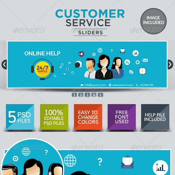 Customer Service Sliders