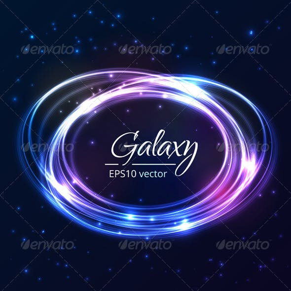 Abstract Background with Glowing Circles