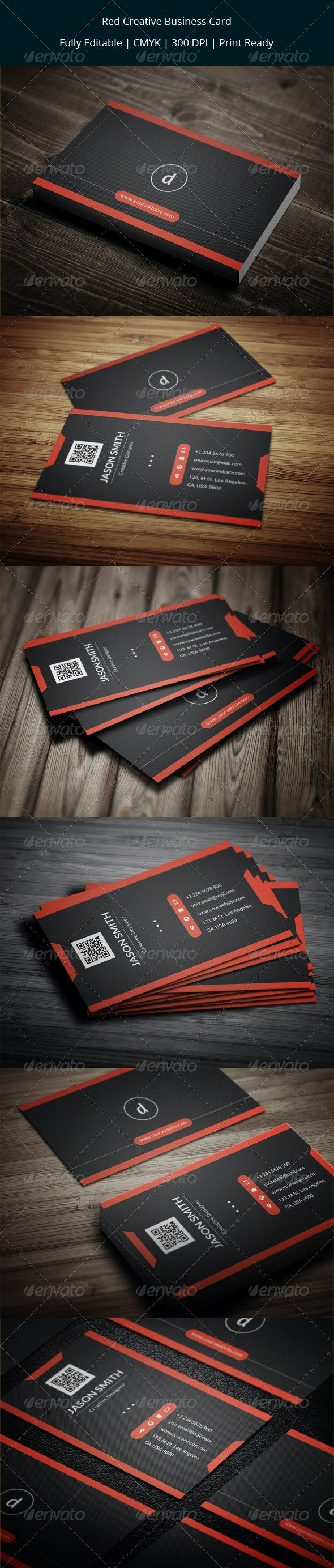 Red Creative Business Card - Creative Business Cards